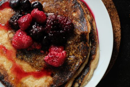 Easy blender banana pancakes.