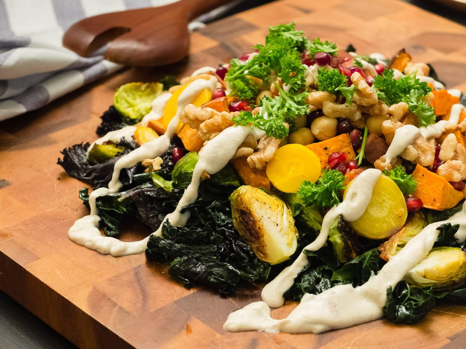 Simple Roasted Vegetable Salad Board