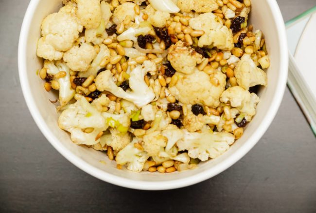Sweet + Spicy Roasted Cauliflower Salad