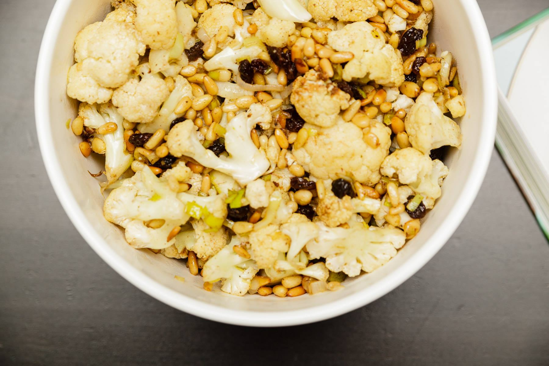 Sweet + Spicy Roasted Cauliflower Salad