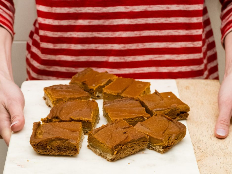 Graham Cracker Crusted Pumpkin Pie Bars