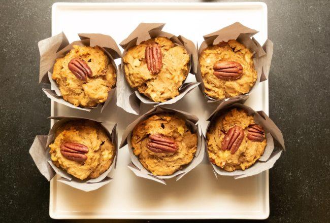 Vegan Banana Nut Muffins