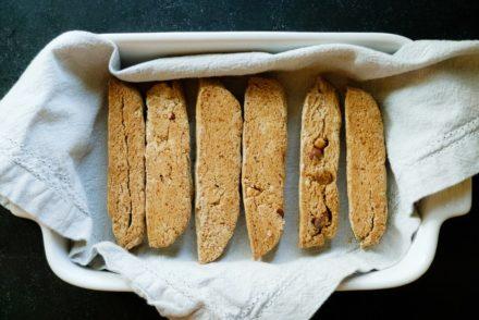 Vegan + Gluten Free Almond Biscotti