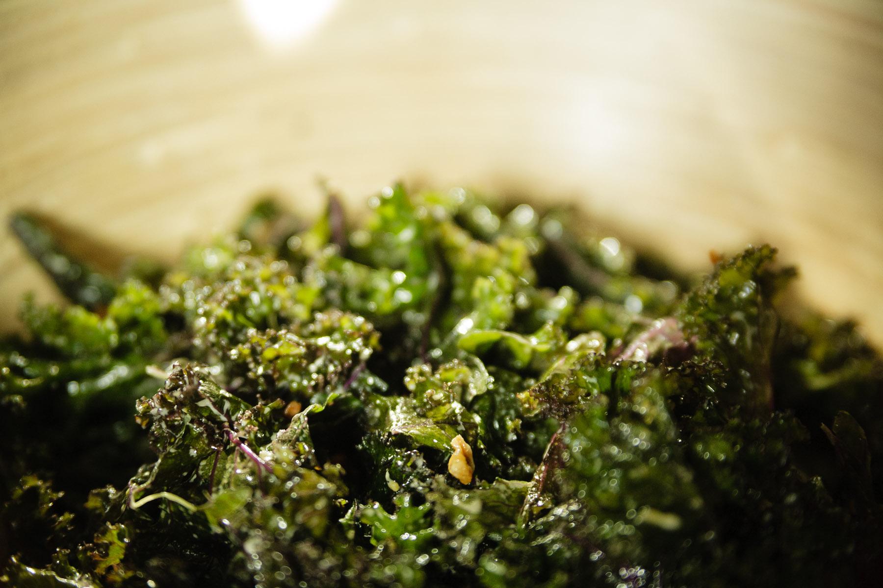 Delicious vegan creamy kale salad by Hannah Larson The Healthful Salad