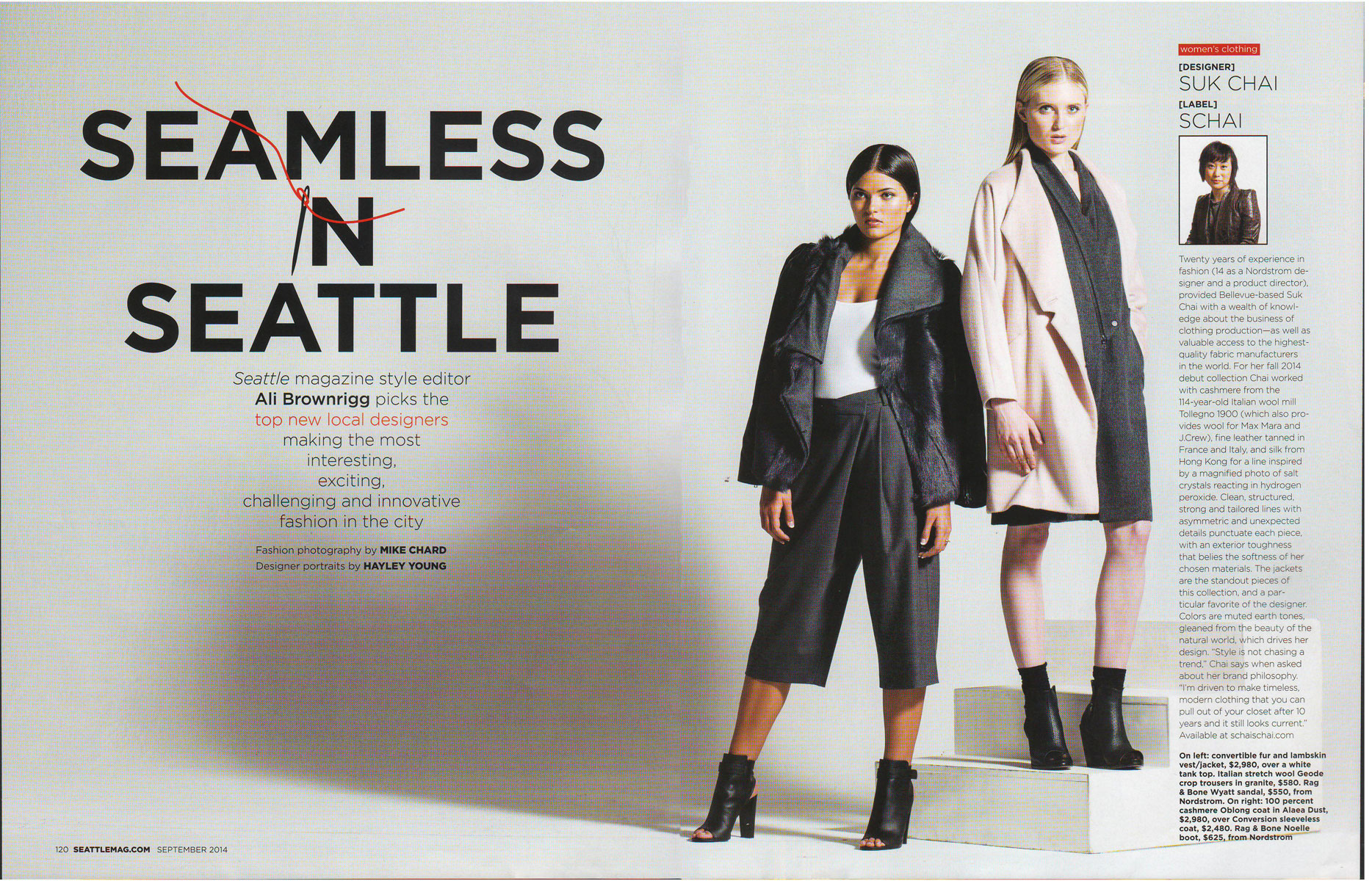 Seattle Fashion Model - Seattle Magazine - Seamless in Seattle editorial - Hannah Larson, The Healthful Model
