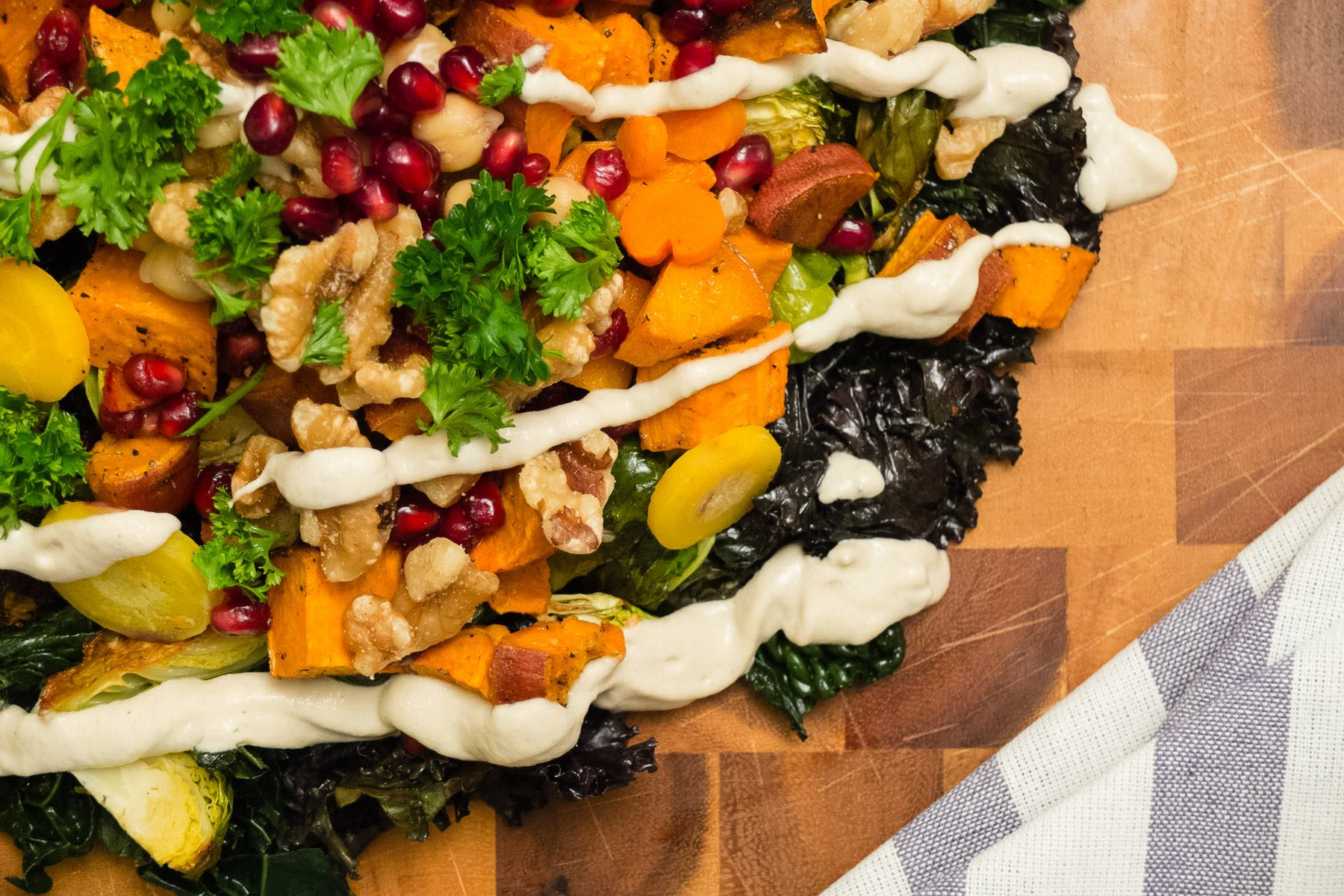 Simple Roasted Vegetable Salad Board