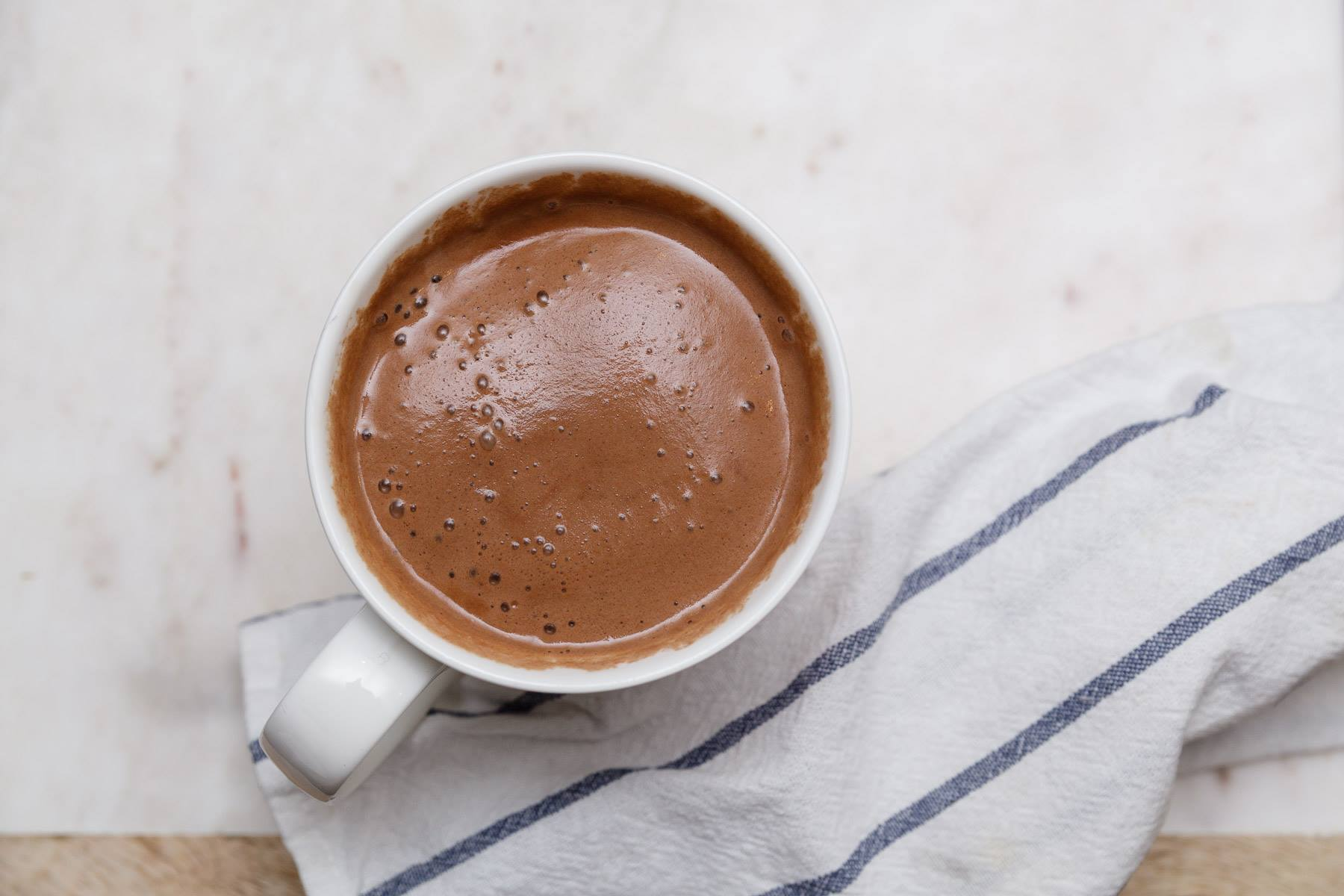 Dairy Free Hot Chocolate by The Healthful Model
